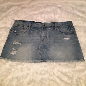 New American Eagle denim mini skirt size 18
